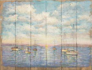 PAESAGGIO dipinto su LEGNO gallery shop